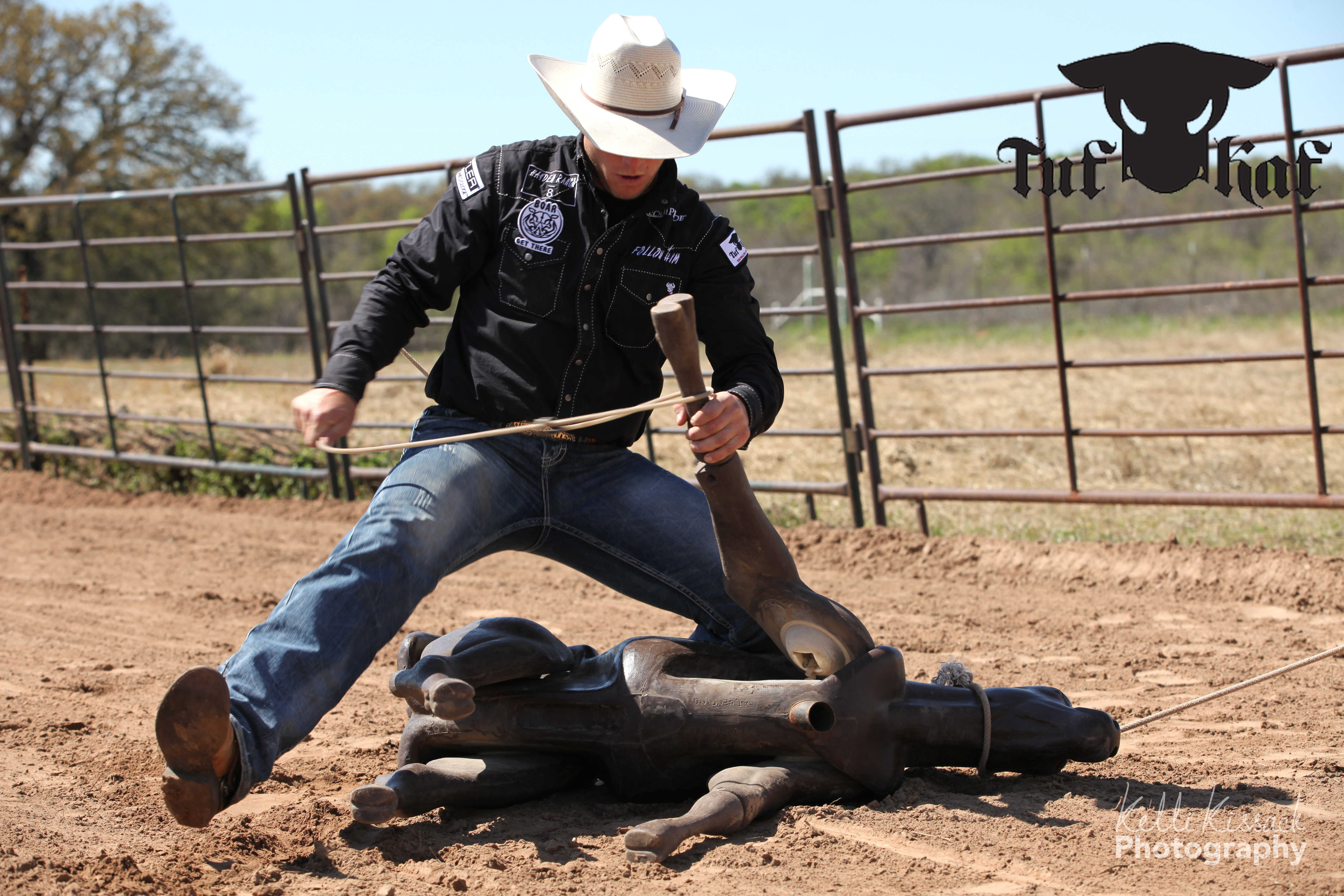 Tuf Kaf Makes You Practice Correctly Calf Roping Dummy