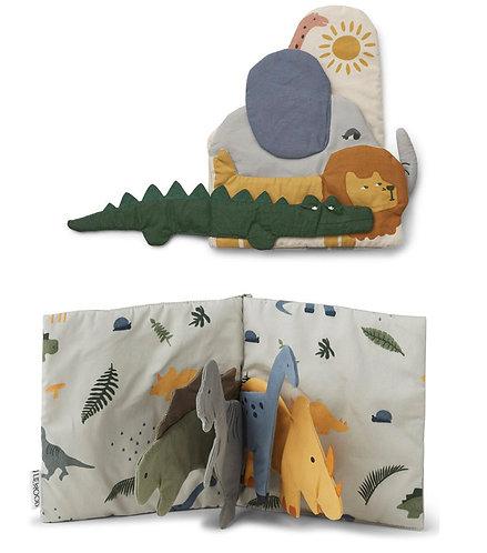 Stoffbuch aus Bio-Baumwolle (Dino/Safari)