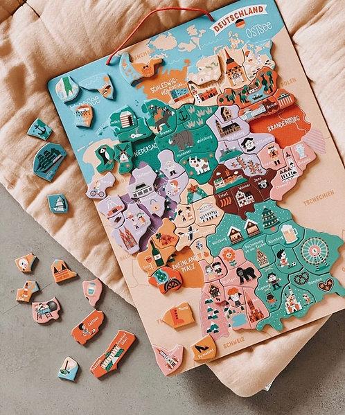Magnet-Landkarte DEUTSCHLAND 79-teilig