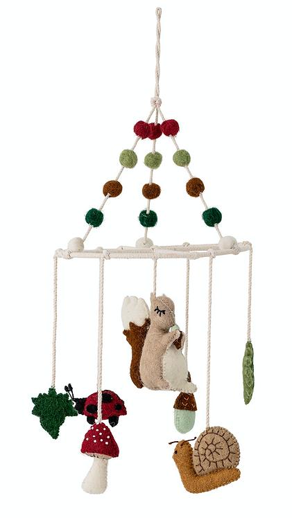 Eichhörnchen Mobile aus Wolle