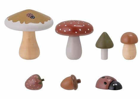 Spielfiguren aus Holz 'Pilze' 7-tlg.