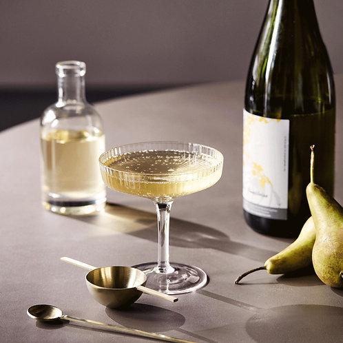 Ferm Living - Ripple Champagnerglas 2er-Set