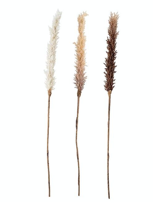 Deko-/Kunstblumen-Set, naturfarben, H110 cm, 3-tlg.