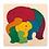 Thumbnail: Regenbogen (Elefant /Fisch) Holzpuzzle