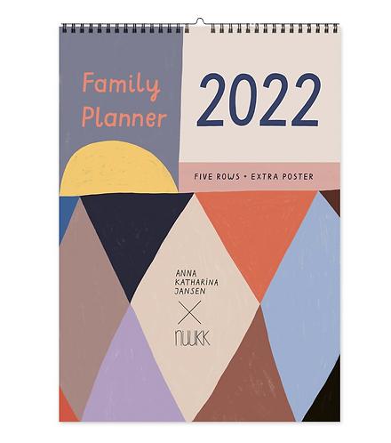 2022 Familien-Kalender mit Poster