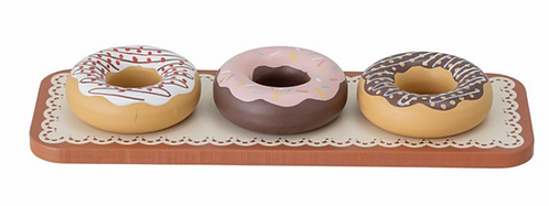 Donuts aus Holz 4-tlg.