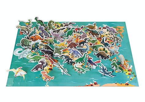 Puzzle Dinosaurier mit Figuren