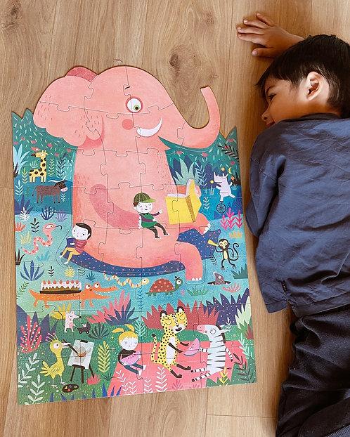 Riesenpuzzle 'Elefant'