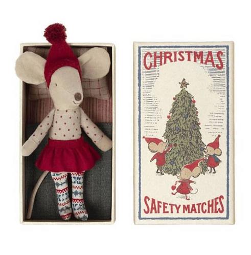 Maileg Weihnachtsmaus Große Schwester in Streichholzschachtel