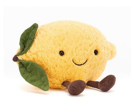 Kuscheltier Zitrone