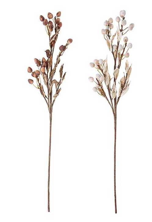 Deko-/Kunstblumen-Set, naturfarben, H80 cm, 2-tlg.