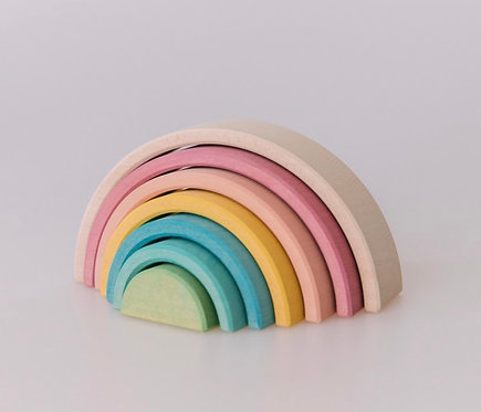 Klein Pastell Regenbogen