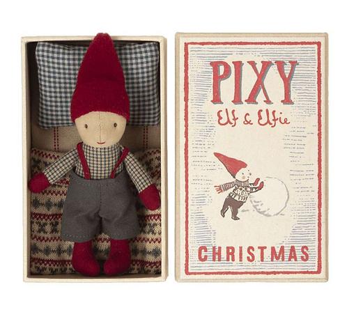 Maileg Pixy Elf in Streichholzschachtel