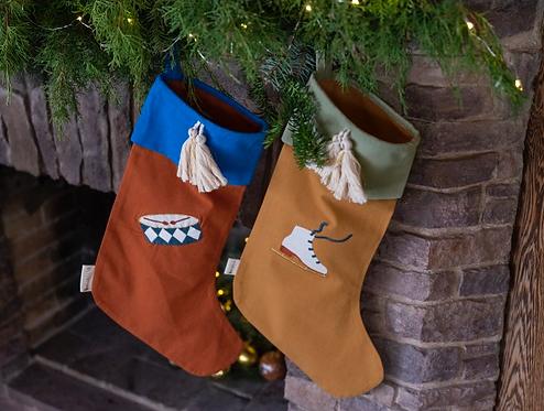 Christmas Stocking embroidery (Ice Skate/Drum)