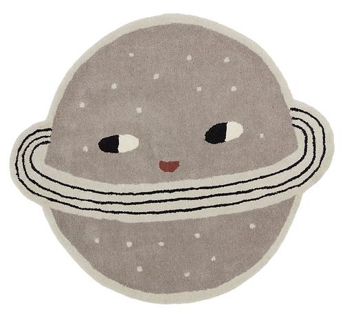 Planet Kinderteppich, 100 x 116 cm
