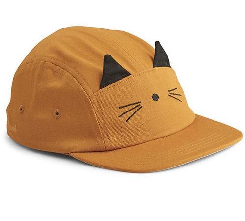 Sonnenkappe Katze Mustard