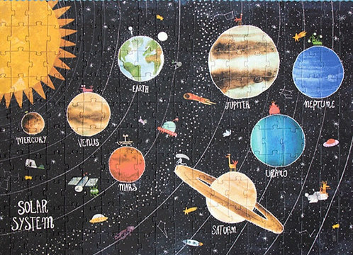 Weltraum Puzzle