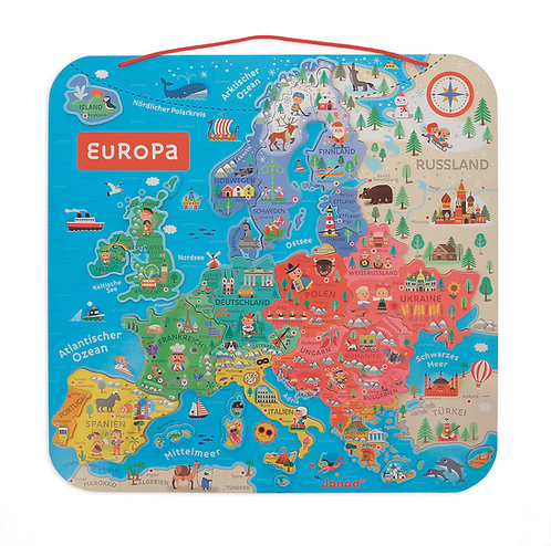*Vorbestellung* Magnetische Europakarte auf Deutsch