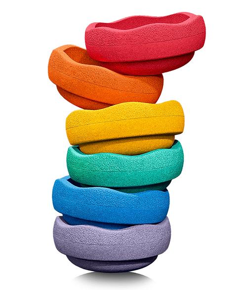 Stapelstein Rainbow basic 6er Set