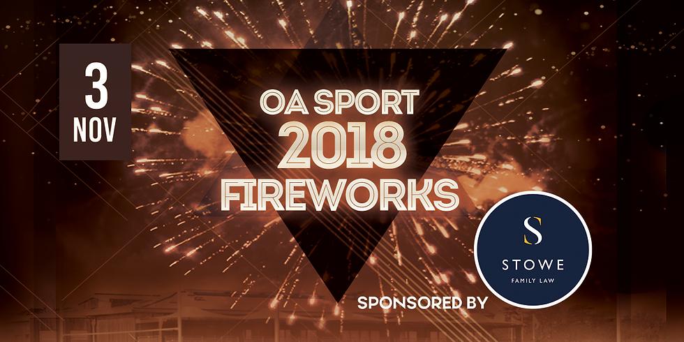 OA Sport Fireworks Night | 19:45 Display Starts