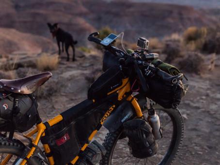 Keep light while bikepacking