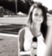 Vanessa Richardson reporting during Colts Training Camp
