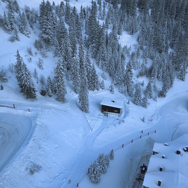vue aérienne hivernale