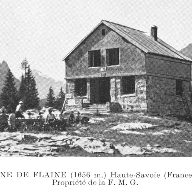 Ancienne cabane de la FMG à Flaine, en 1935