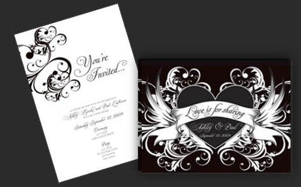 Tattoo Art Wedding Invitation
