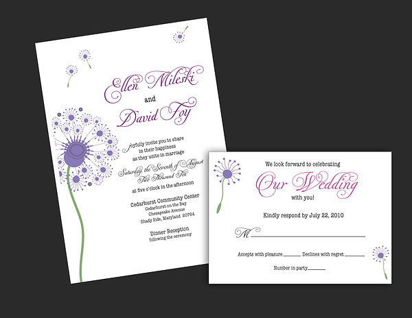 A Wedding Invitation and RSVP Card
