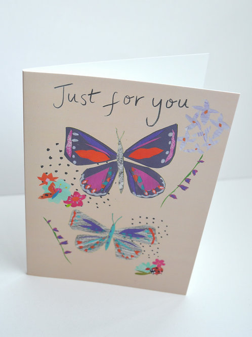 Just for you butterfly a6 greeting card