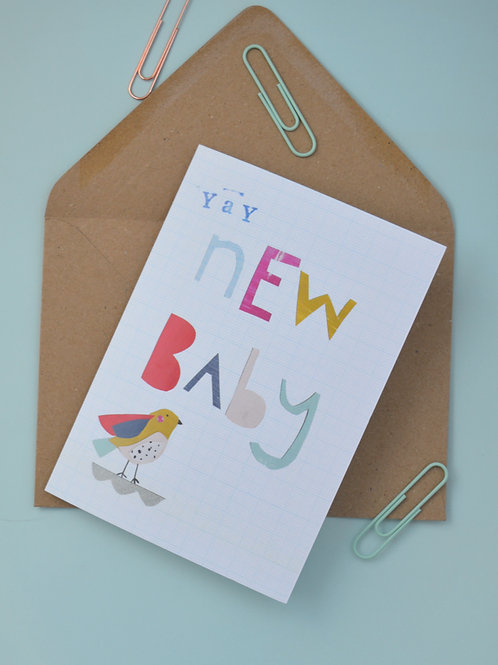 Yay new baby a6 greeting card
