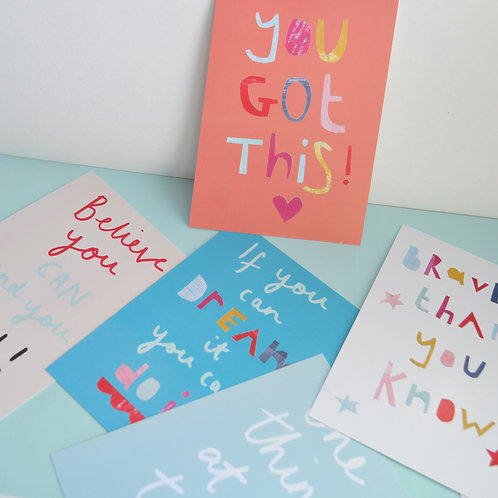A6 Postcard/print ' You got this '