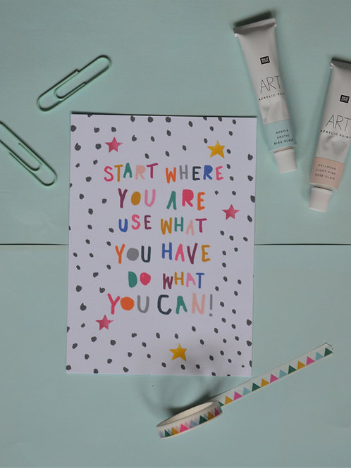 Positive quote postcard print a6 blank