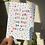 Thumbnail: Positive quote postcard print a6 blank