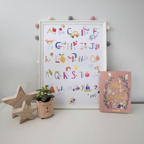 A to Z alphabet print kids , Dolly Peppe