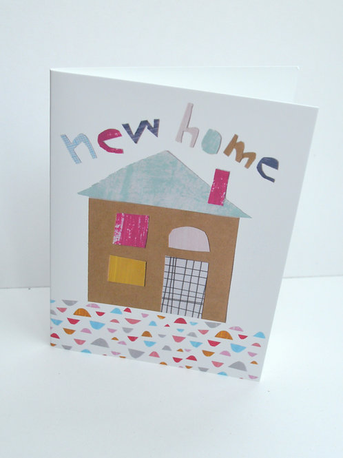 New home house greeting card a6 size