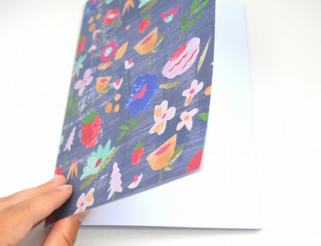 A5 sized floral journal notebook