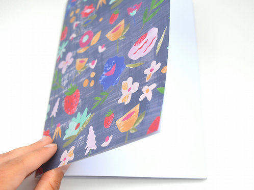Modern colourful floral notebook journal A5 sized