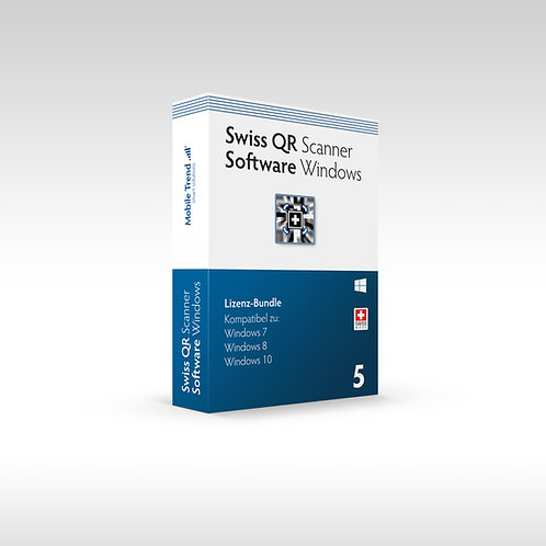 Swiss QR Scanner - Windows 5 Lizenz-Bundle