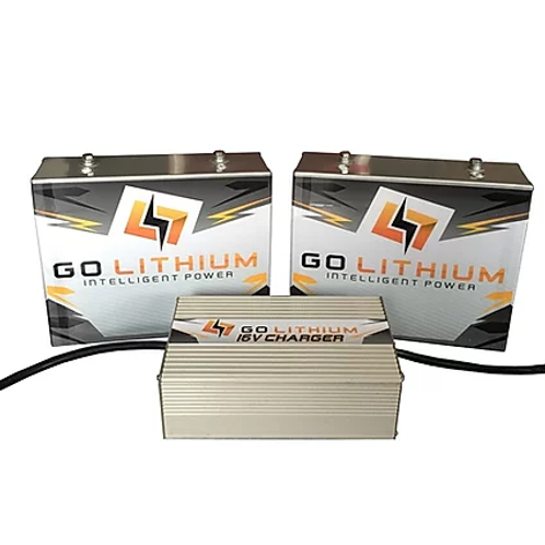 GO LITHIUM 16V Twin Battery And Charger Combo