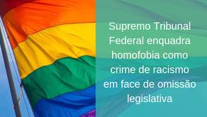 O Supremo Tribunal Federal (STF) enquadra homofobia como crime de racismo