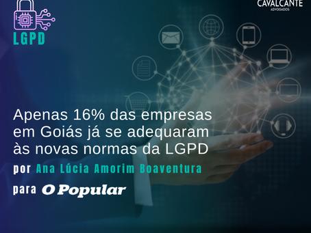 Apenas 16% das empresas em Goiás já se adequaram às novas normas da LGPD