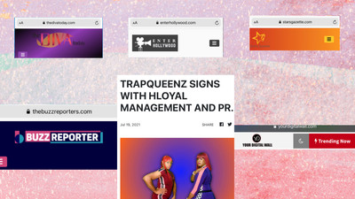TRAPQUEENZ SIGNS WITH HLOYAL MANAGEMENT & PR