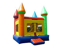Multicolored Party Inflatable Moonwalk Bounce House Rental