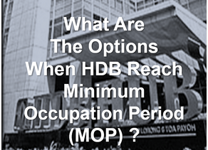 What are the Options after HDB MOP?