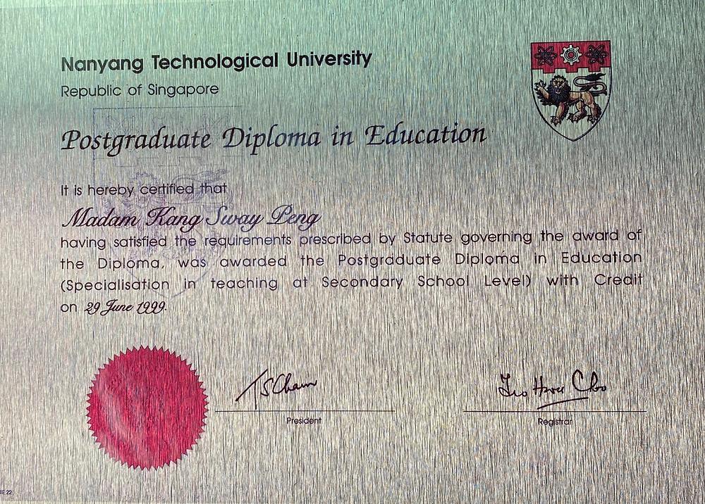 My Postgraduate Diploma in Education a teacher career