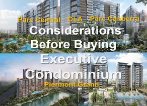 Considerations Before Buying an Executive Condominium (EC)