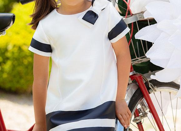 Mikado Off White A-Line Dress