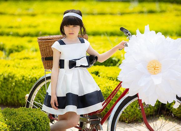 Mikado Off White Party Dress